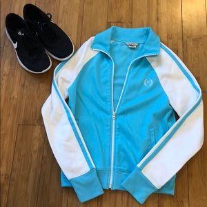 Maurice's baby blue & white track jacket
